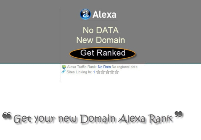 I will get any new domain alexa ranked now