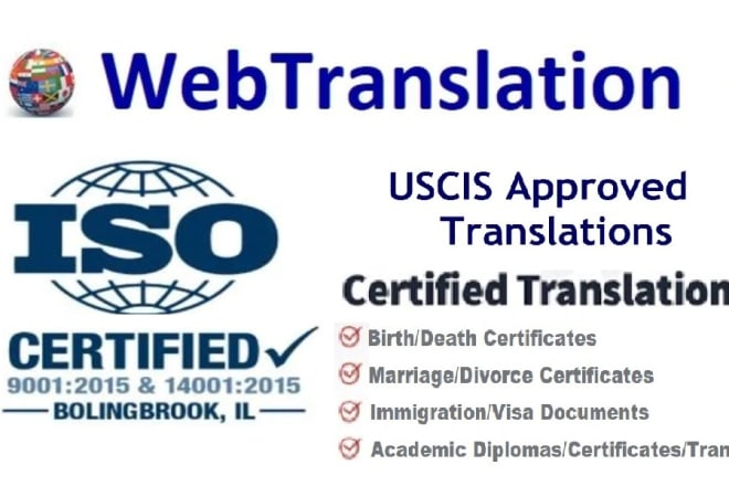 I will do certified portuguese to english translation portuguese translation vice versa
