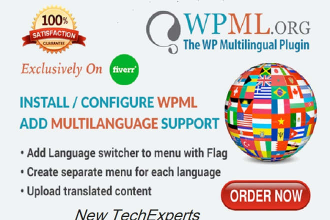 I will configure website multilingual or translate website content using wpml