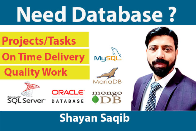 I will design database, queries for sql, mysql, oracle, ms access