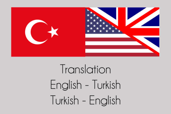 I will translate any file from english to turkish or turkish to english