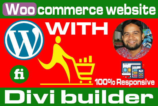 I will do ecommerce website with divi builder