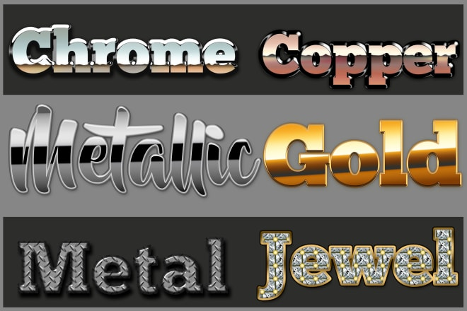 I will replicate your logo in metal, chrome, copper, jewel, and gold in 3d